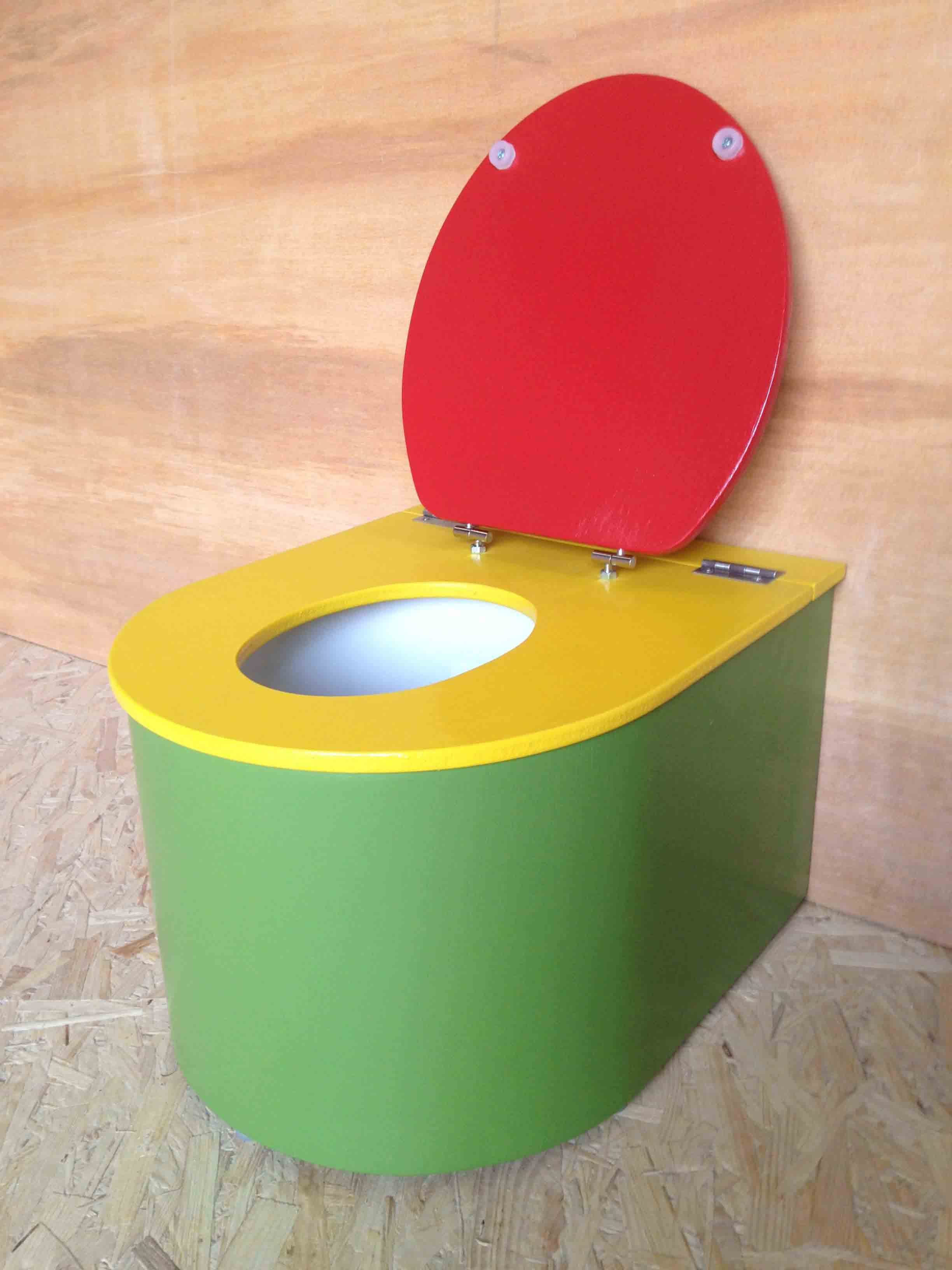 mini toilette bebe vert jaune rouge