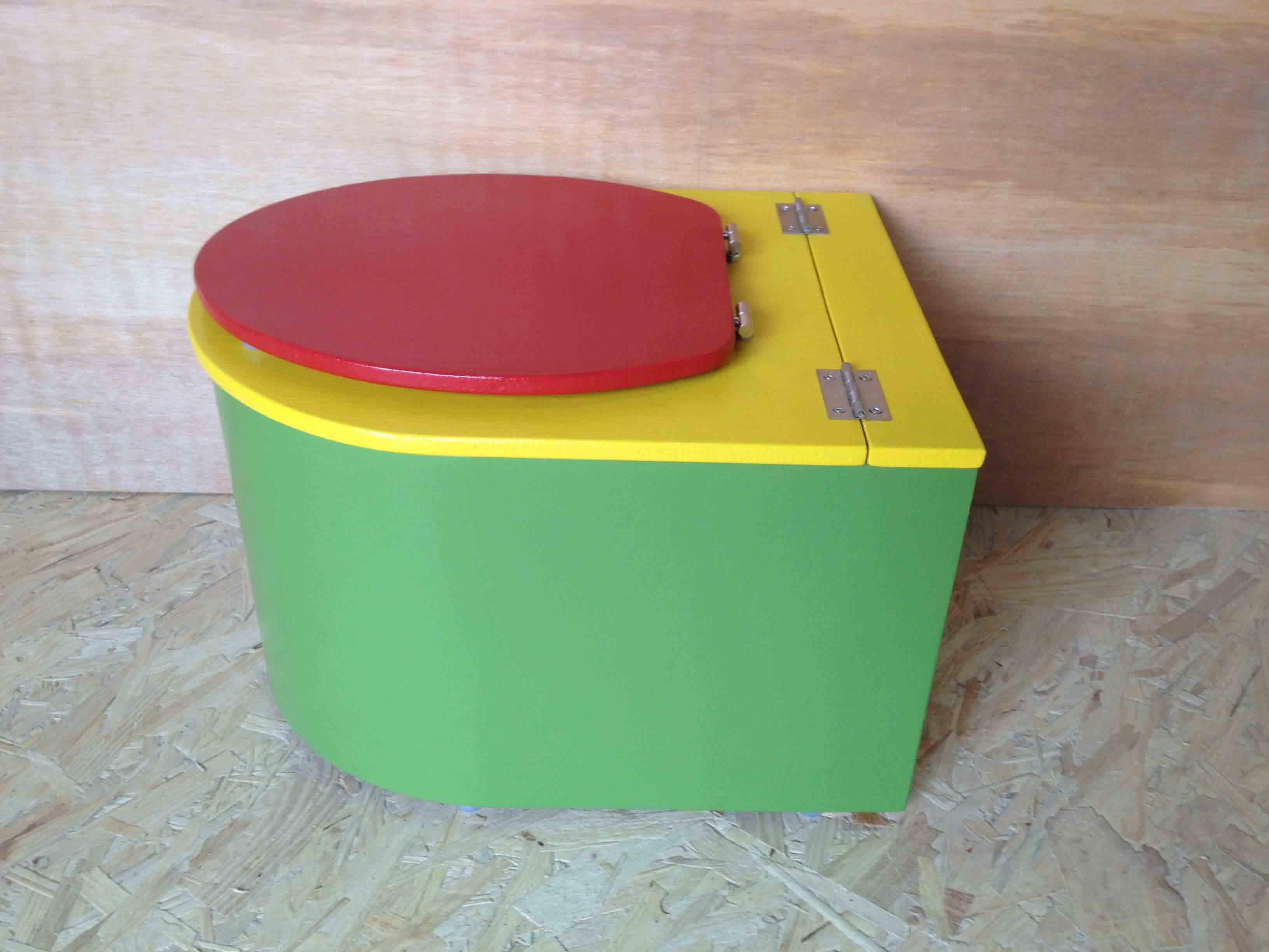 mini toilette seche vert jaune rouge