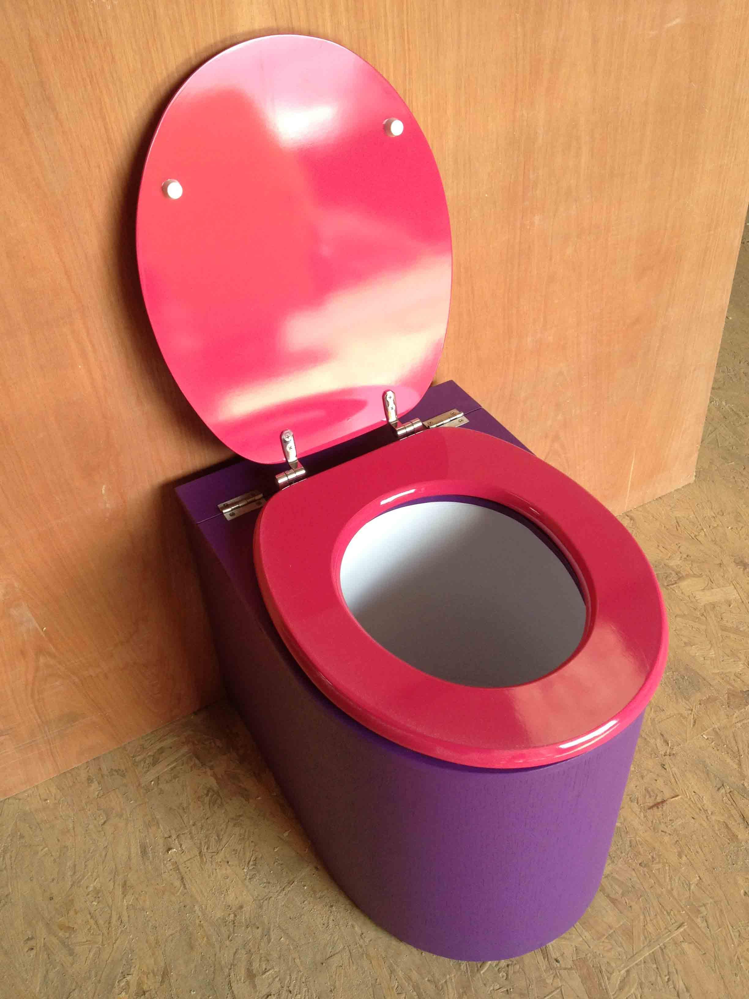 Toilettes sèches en appartement violet