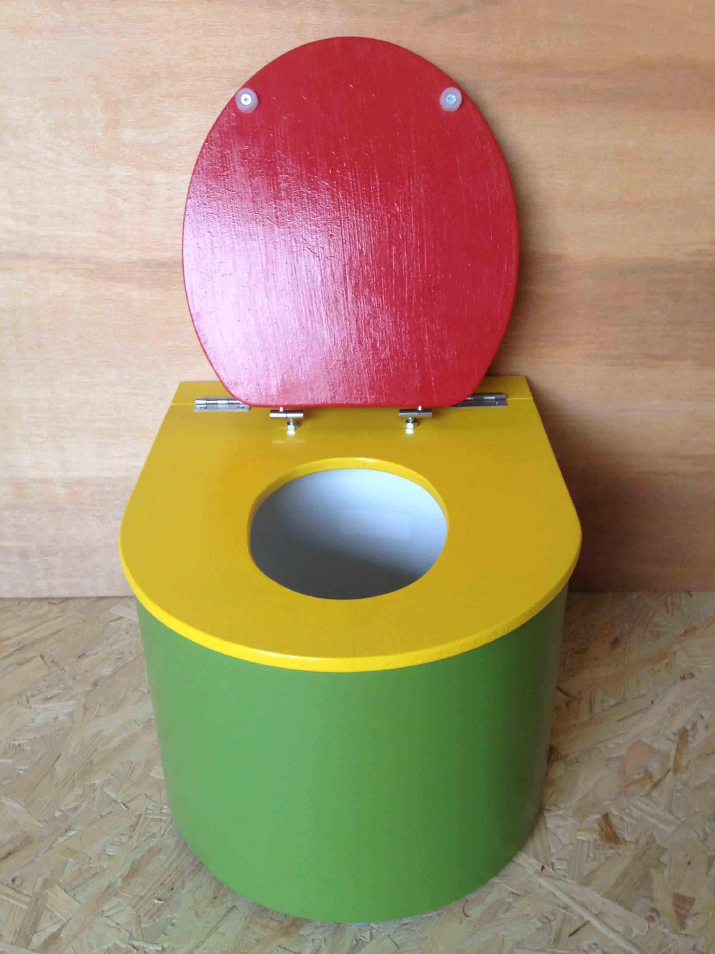 toilette seche bebe vert jaune rouge