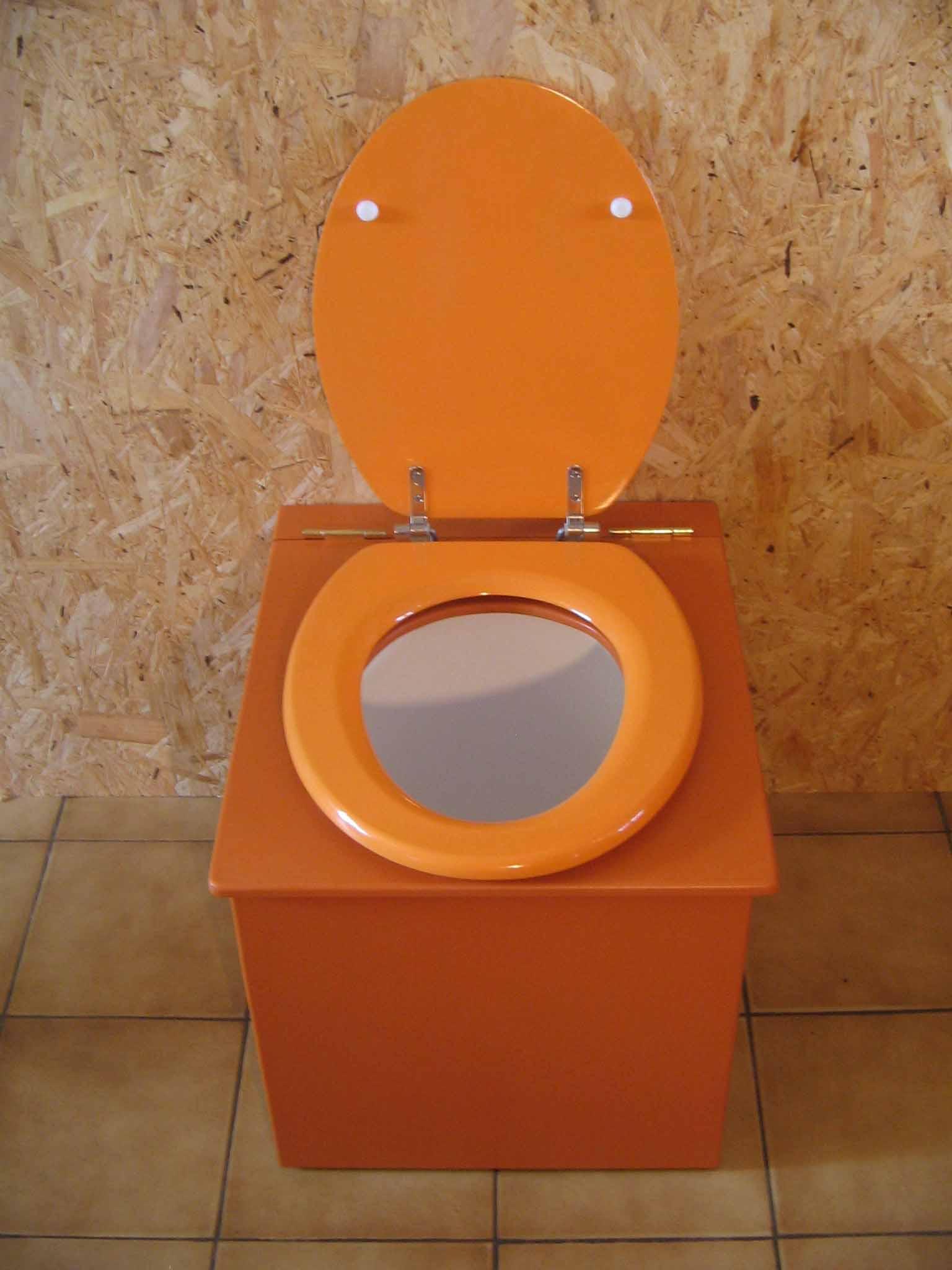 toilettes sèches pas cher orange