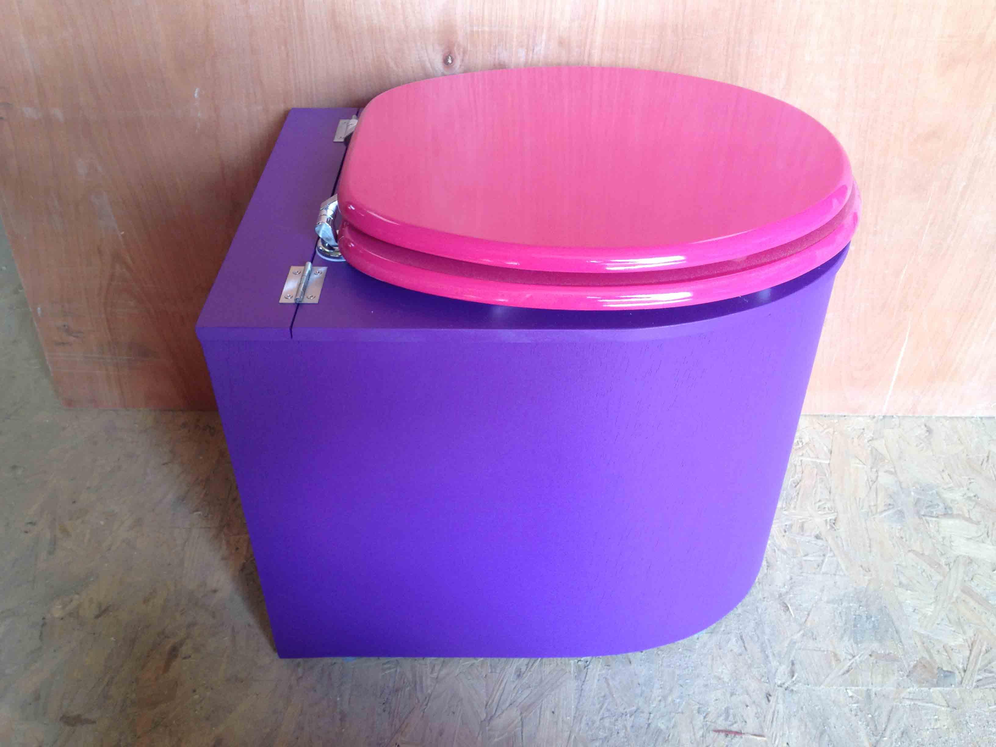 Toilettes sèches design violet