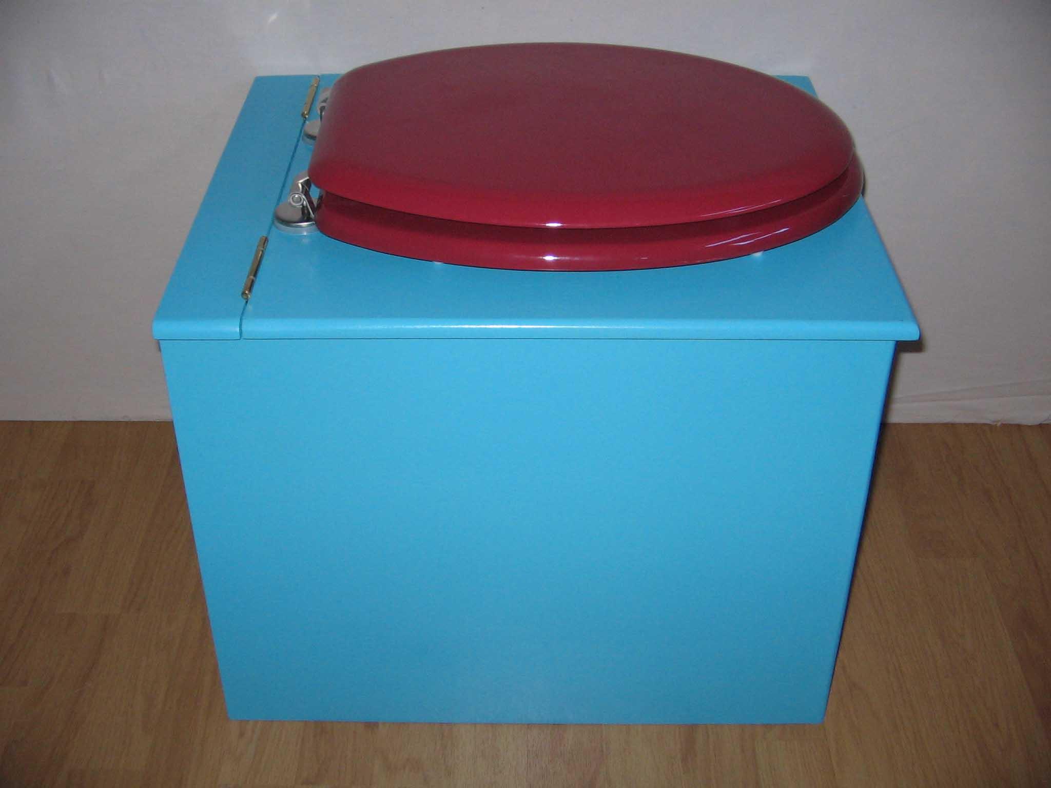 toilette sèche originale bleu