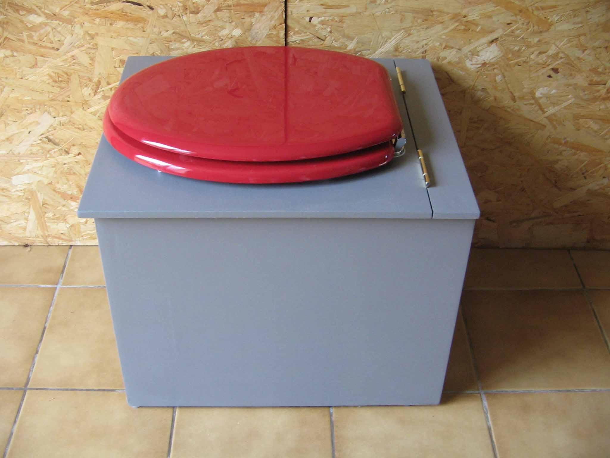 toilettes sèches originales gris