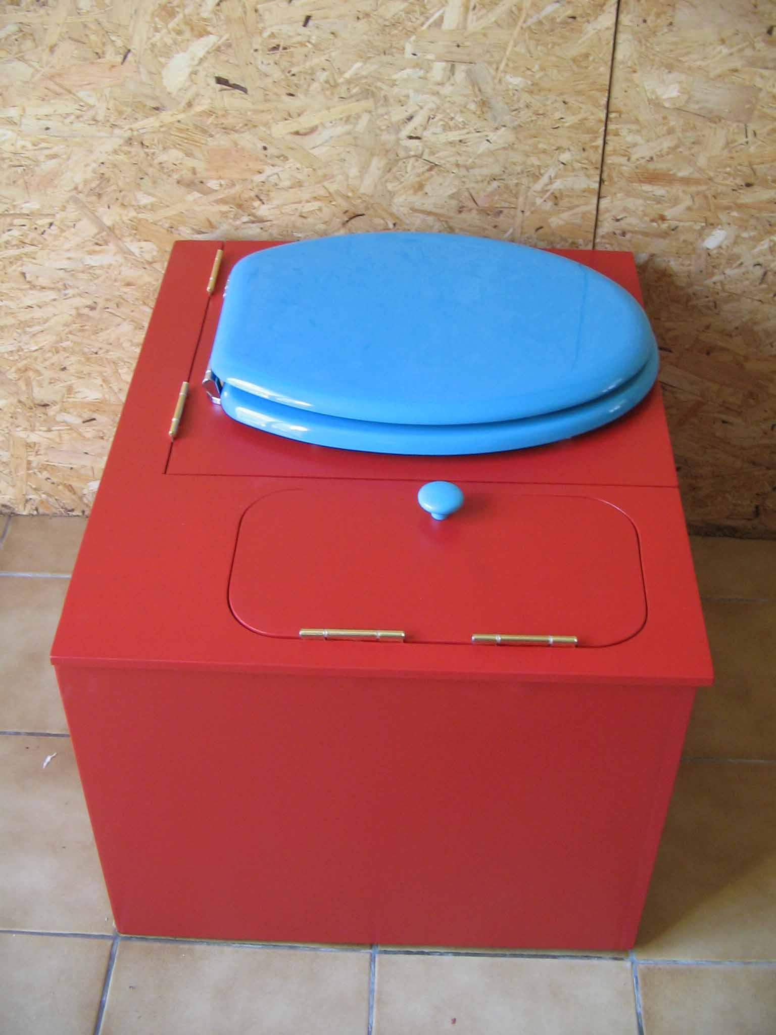 wc sans eau rouge